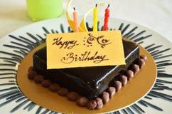 Schokoladengeburtstagkuchen Lizenzfreie Stockfotografie