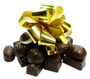 Schokoladengeschenk getrennt Stockbild