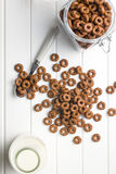 Schokoladengetreideringe Lizenzfreies Stockfoto