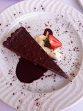 Schokoladenhaselnusstörtchen Stockfotografie