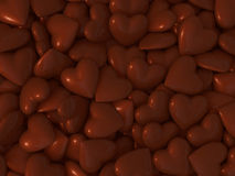 Schokoladenherz Stockbilder