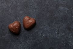 Schokoladenherzbonbons Lizenzfreie Stockfotografie