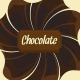 Schokoladenhintergrund Stockfotos