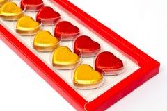 Schokoladeninnere im Kasten Stockbild