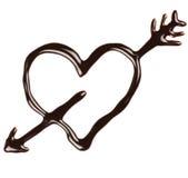 Schokoladeninneres stockfotografie