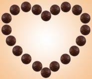 Schokoladeninneres Stockfotos