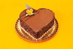 Schokoladeninnerkuchen lizenzfreie stockfotografie
