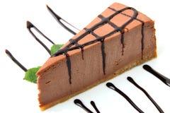 Schokoladenkäsekuchen Stockfotografie