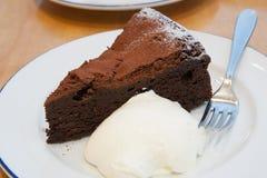 Schokoladenkäsekuchen Stockfotos