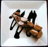 Schokoladenkaffeekuchen Lizenzfreie Stockfotos