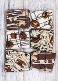 Schokoladenkaramel-Barkenstücke Lizenzfreies Stockbild