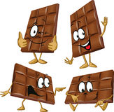 Schokoladenkarikatur Lizenzfreies Stockfoto