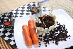 Schokoladenkarotte halwa, Schokoladenkarottennachtisch Stockfotografie