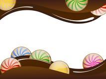 Schokoladenkarte Stockbild