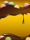Schokoladenkarte Lizenzfreies Stockfoto