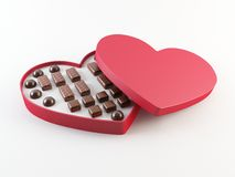 Schokoladenkasten des Valentinsgrußes Lizenzfreies Stockfoto