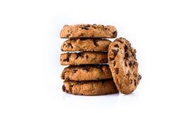 Schokoladenkekse getrennt auf weißem Hintergrund Stockfotografie