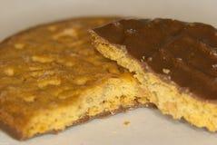 Schokoladenkeksmakro Stockfoto