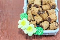 Schokoladenkeksrolle Lizenzfreie Stockfotos