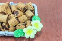 Schokoladenkeksrolle Lizenzfreie Stockbilder