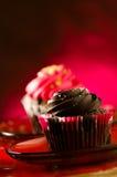 Schokoladenkleine kuchen Lizenzfreies Stockfoto