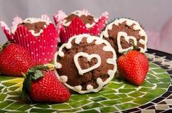 Schokoladenkleine kuchen stockfotografie