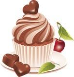 Schokoladenkleiner kuchen stock abbildung