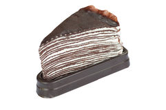Schokoladenkreppkuchen Lizenzfreie Stockbilder