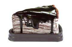 Schokoladenkreppkuchen Stockfotos