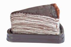 Schokoladenkreppkuchen Lizenzfreies Stockfoto