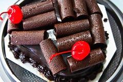 Schokoladenkuchen lizenzfreies stockfoto