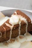 Schokoladenkuchen. lizenzfreie stockfotos
