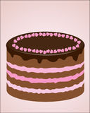 Schokoladenkuchen vektor abbildung
