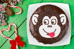 Schokoladenkuchen Affe Stockfotos