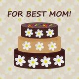 Schokoladenkuchen auf hölzernem Hintergrund Lizenzfreies Stockfoto