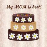 Schokoladenkuchen auf hölzernem Hintergrund Stockfotos