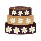 Schokoladenkuchen auf weißem Hintergrund Lizenzfreies Stockbild