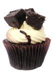 Schokoladenkuchen-kleiner Kuchen Stockfoto