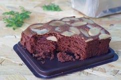 Schokoladenkuchen-Kuchen Lizenzfreie Stockfotos
