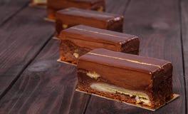 Schokoladenkuchen-Kuchen Lizenzfreies Stockbild