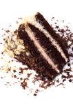 Schokoladenkuchen mit Mandeln lizenzfreie stockbilder