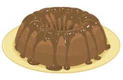 Schokoladenkuchen. Vektorabbildung Lizenzfreie Stockfotografie