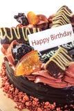 Schokoladenkuchengeburtstag Stockbilder