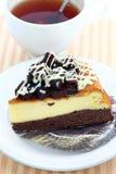 Schokoladenkuchenkäsekuchen. Stockbild