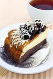 Schokoladenkuchenkäsekuchen. Lizenzfreies Stockbild