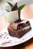 Schokoladenkuchenkäsekuchen Stockbild