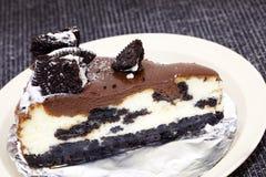 Schokoladenkuchenkäsekuchen Stockbilder