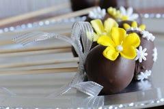 Schokoladenkuchenknalle Stockfotografie