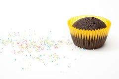 Schokoladenkuchenmuffin Lizenzfreies Stockfoto