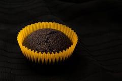 Schokoladenkuchenmuffins in der Dunkelheit Stockbild